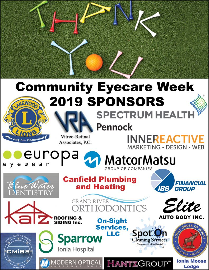community eyecare week spnosors